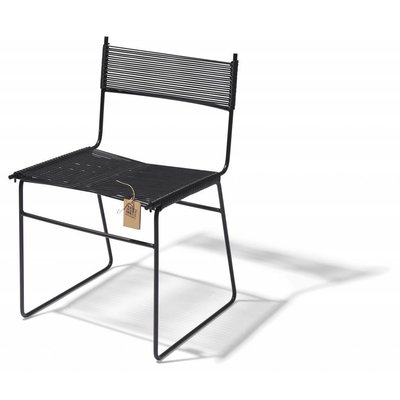 Polanco Dining Chair Sled Base in Black (Made w/ Recycled PVC)