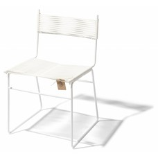 Polanco Dining Chair Sled Base White