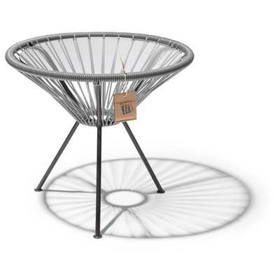 Table Japón in Silver-Grey, Glass Table Top