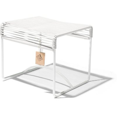 Xalapa Stool or Footrest in White, White Frame