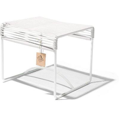 Xalapa stool or footrest white, white frame