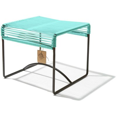 Xalapa stool or footrest light turquoise