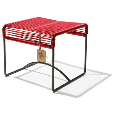 Xalapa stool or footrest red