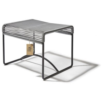 Xalapa Stool or Footrest in Silver-Grey