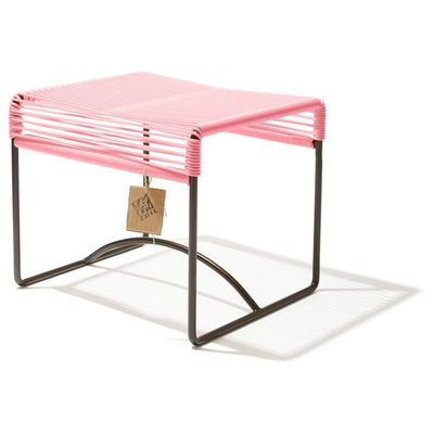 Xalapa stool or footrest salmon pink