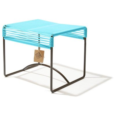 Xalapa stool or footrest blue