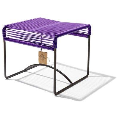 Xalapa stool or footrest purple
