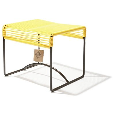 Xalapa stool or footrest  canary yellow