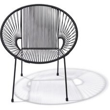 Luna Chair in Black (Made w/ Recycled PVC)