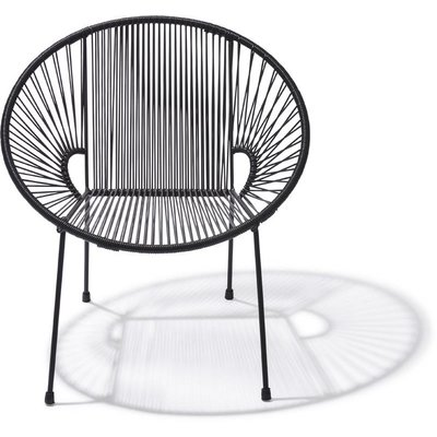 Luna Dining Chair in Black (Made w/ Recycled PVC)