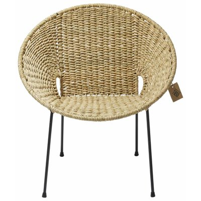 Luna Dining Chair Tule, With Natural Reed