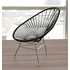 Exclusive Edition - Acapulco Chair in Black,  Stainless Steel Frame (Made w/ Recycled PVC)