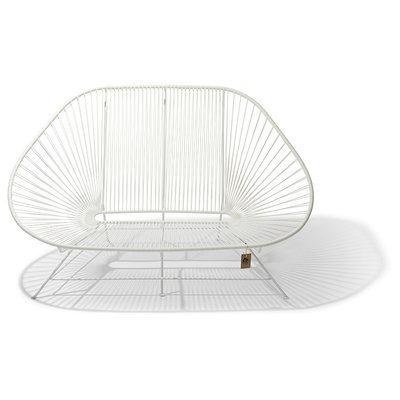Acapulco Sofa in white with white frame, Suitable for 2-3 People