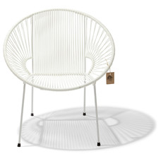 Luna Chair White with white frame