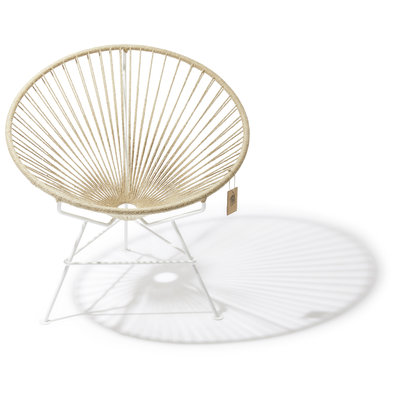 Condesa Hemp Chair, White Frame 100% natural