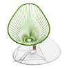 Acapulco Chair in Olive Green, White Frame