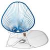 Acapulco Chair in Metallic/Cobalt Blue, White Frame
