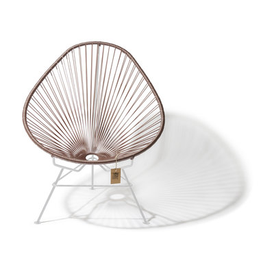 Acapulco Chair in Metallic Taupe, White Frame