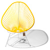 Acapulco Chair in Yellow, White Frame