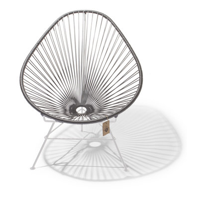 Acapulco Chair in Silver-Grey, White Frame