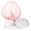 Acapulco Chair in Salmon Pink, White Frame