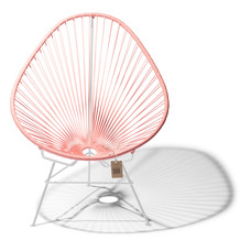 Acapulco Chair Salmon Pink, White Frame