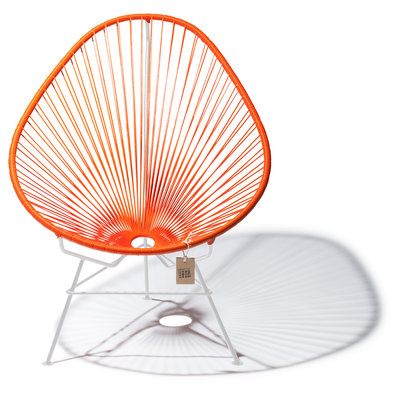 Acapulco Chair in Orange, White Frame