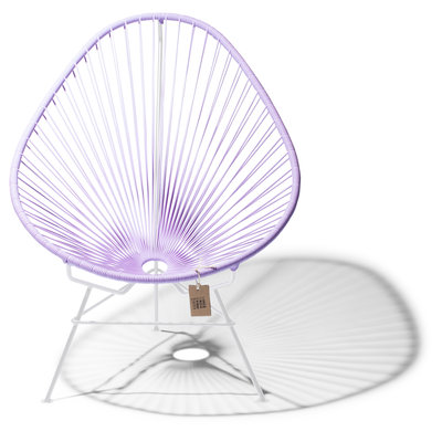 Acapulco Chair in Lilac, White Frame