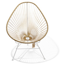 Acapulco Chair Gold, White Frame