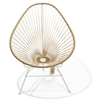 Acapulco Chair in Gold, White Frame