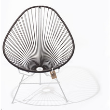Acapulco Chair chocolate brown, white frame