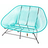 Acapulco Sofa in Light Turquoise, Suitable for 2-3 People