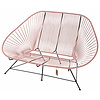 Acapulco Sofa in Pastel Pink, Suitable for 2-3 People