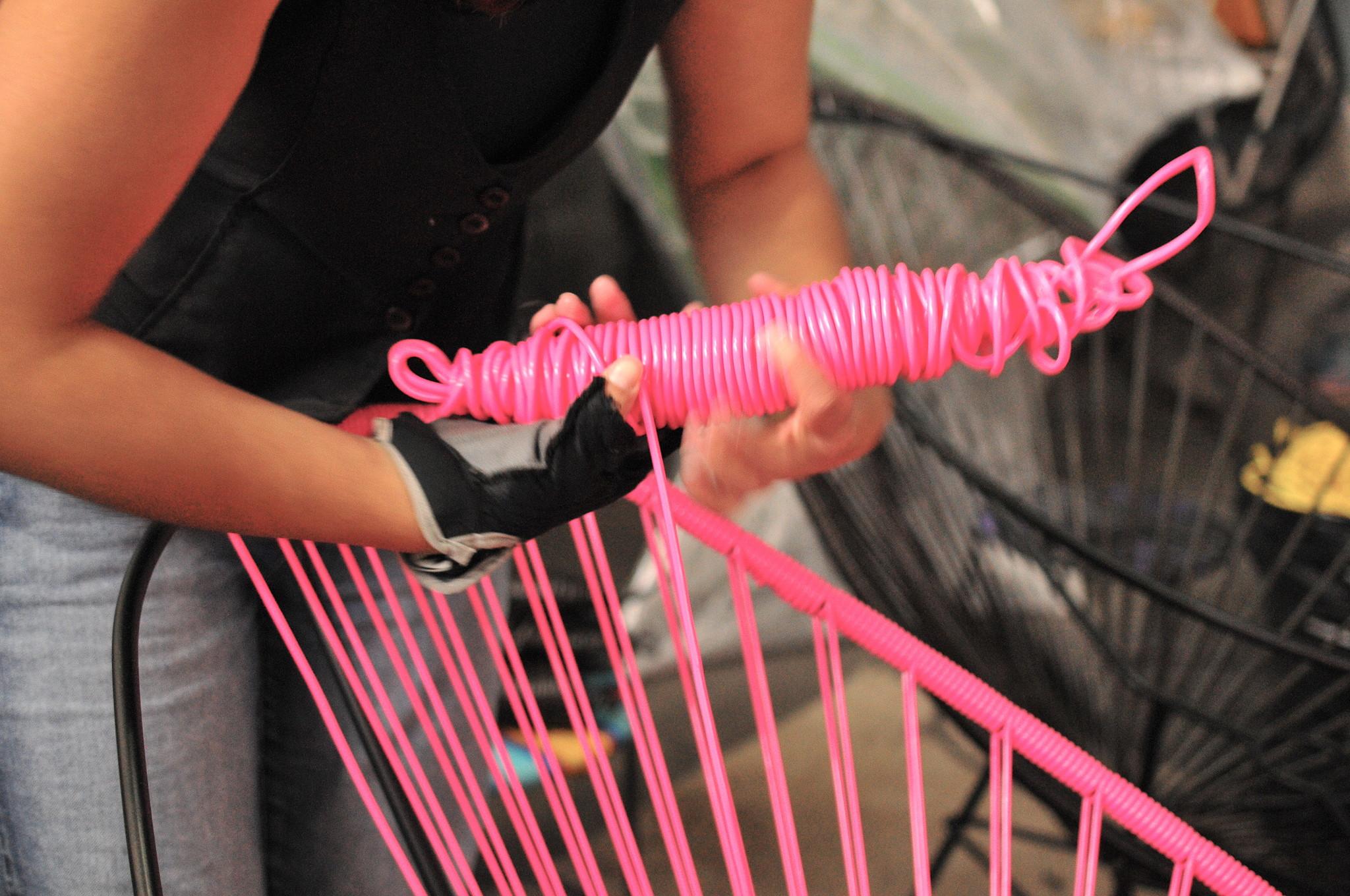 Weaving La Silla Acapulco Original Handmade Workshop Chair Mexico