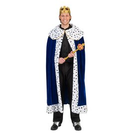 Funny Fashion cape koning blauw