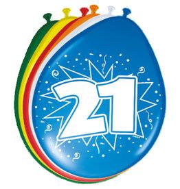 ballonnen 21jaar 8 stuks