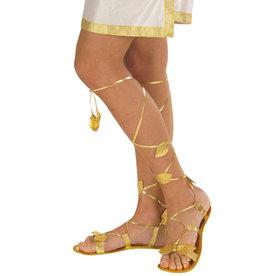 roman sandals gold