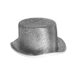 Zilver-en goudkleurige glitter hoge hoed