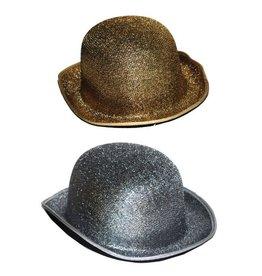 Funny Fashion Zilver-en goudkleurige glitterbolhoed