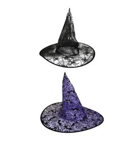 funny fashion/espa heksenhoed vleermuisprint
