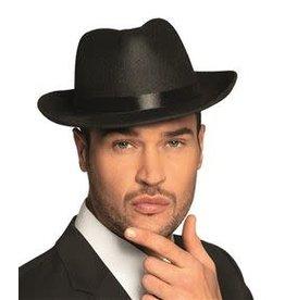 Funny Fashion hoed maffia zwart
