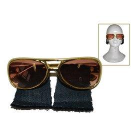 Elvis bril met bakkebaarden