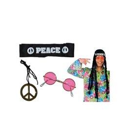 Funny Fashion hippieset met bril