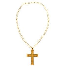 Funny Fashion ketting kruis goud