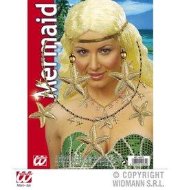 mermaid ketting oorbellen