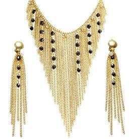 egyptian necklace & earrings