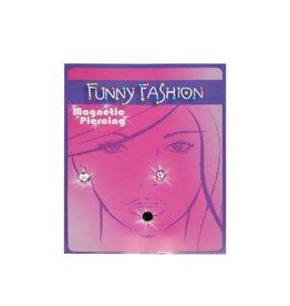 funny fashion/espa piercing 3 stuks magnetisch