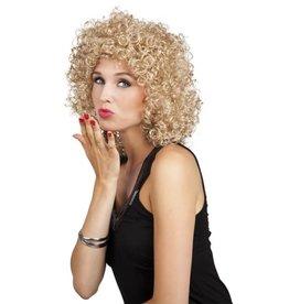 pruik gekruld blond