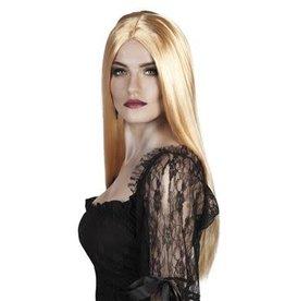 pruik blond lang haar