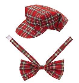 Widmann tartan hat &bow tie